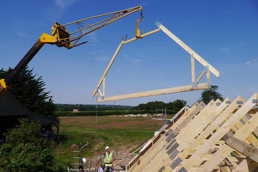 Timber frame buildings can be erected in just a few days