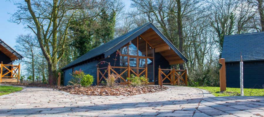 Timber frame lodge in Norfolk