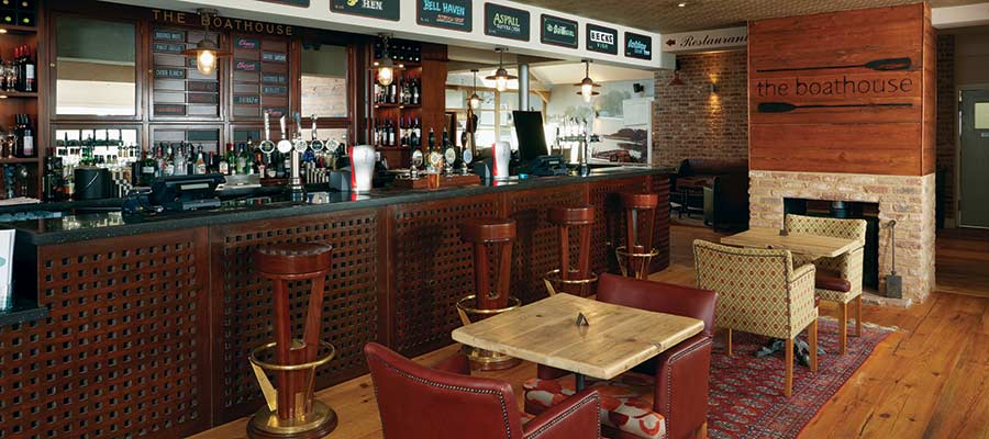 Wooden bar - The Boathouse norfolk